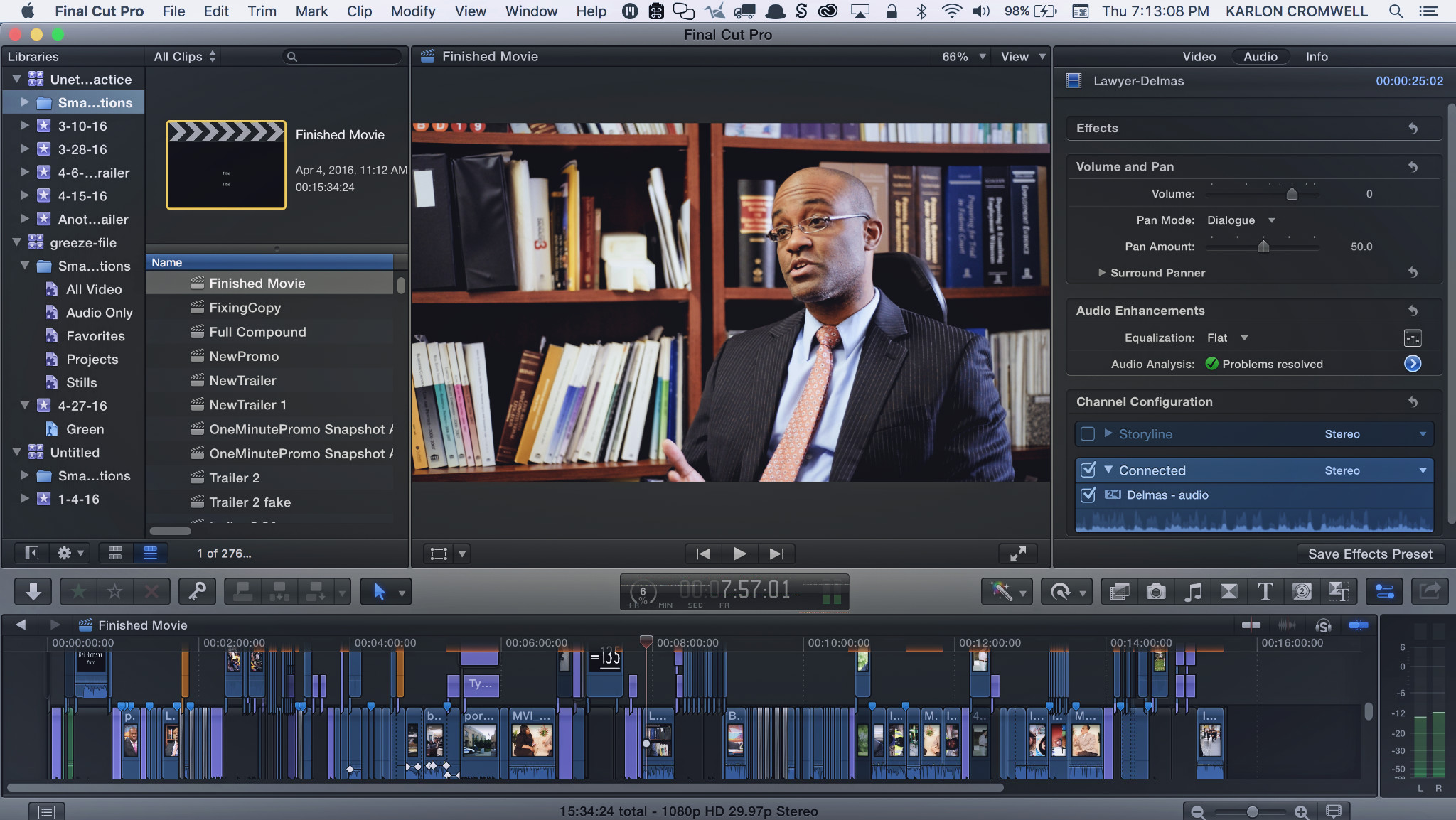 Creating a Documentary with Final Cut Pro X